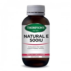 Thompson's-Natural E 500iu 100 Capsules