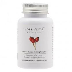 Unichi-Rosa Prima Rosehip Extract 1500mg Complex 60 Vegan Capsules