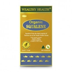 Wealthy Health-Organic Squalene 1000mg 365 Capsules