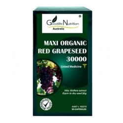 Goodlife Nutrition-Maxi Organic Red GrapeSeed 30000 90 Tablets