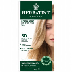 Herbatint-Permanent Haircolour Gel 8D Light Golden Blonde 150ml