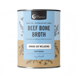 Nutra Organics-Beef Bone Broth Immune Gut Wellbeing Hearty Original Flavour 125g