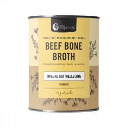 Nutra Organics-Beef Bone Broth Immune Gut Wellbeing Turmeric Flavour 125g