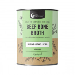 Nutra Organics-Beef Bone Broth Immune Gut Wellbeing Garden Herb Flavour 125g