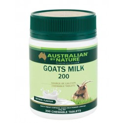 Australian by Nature-Goats Milk 200mg 300 Chewable Tablets Natural Flavoured