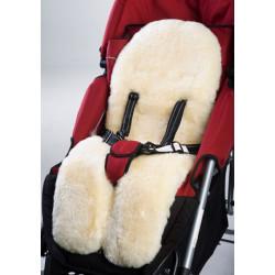 Cozy Traveller-Natural Australian Lambskin Stroller Liner Cream