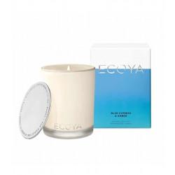 Ecoya-Blue Cypress & Amber Soy Wax Fragranced Candle 400g