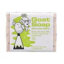 Goat Soap Australia-Goat Soap With Lemon Myrtle 100g
