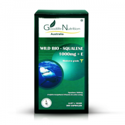 Goodlife Nutrition-Wild Bio Squalene 1000mg +E 365 Capsules (Temporary Packaging)
