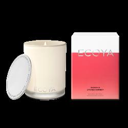 Ecoya-Guava & Lychee Sorbet Soy Wax Fragranced Candle 400g