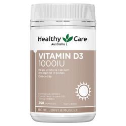 Healthy Care-Vitamin D3 1000IU 250 Capsules