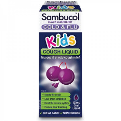 Sambucol-Black Elderberry Cold & Flu Kids Cough Liquid 120ml