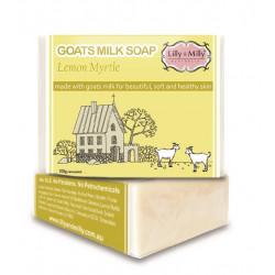 Lilly & Milly-Goats Milk Soap Lemon Myrtle 100g