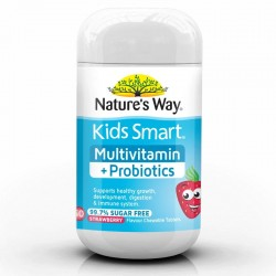 Nature's Way-Kids Smart Multivitamin + Probiotics Strawberry Chewables 50 Tablets