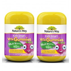 Nature's Way-Kids Smart Vita Gummies Multi Vitamin & Vegies 60 Pastilles x2 TWIN PACK