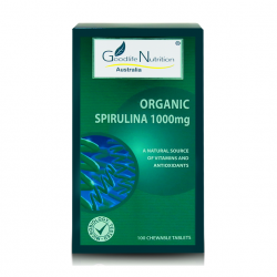 Goodlife Nutrition-Organic Spirulina 1000mg 100 Tablets