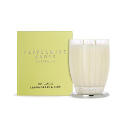 Peppermint Grove-Lemongrass & Lime Soy Candle 350g