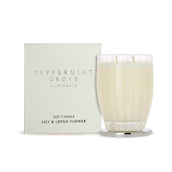 Peppermint Grove-Lily & Lotus Flower Soy Candle 350g