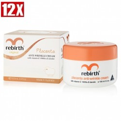 Rebirth-Placenta Anti Wrinkle Cream with Vitamin E 100ml x12 PACK