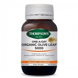 Thompson's-One-A-Day Olive Leaf 5000mg Organic 60 Capsules