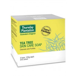 Thursday Plantation-Tea Tree Skin Care Soap 3 Bars, 125g Each