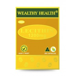 Wealthy Health - Lecithin 1200mg 200 Capsules