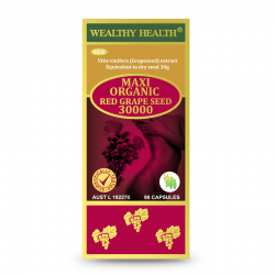 Wealthy Health-Maxi Organic Red Grape Seed 30000 90 Capsules