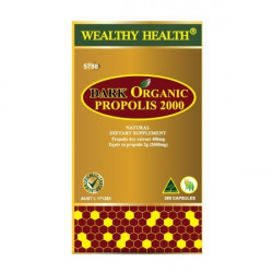 Wealthy Health-Dark Organic Propolis 2000 365 Capsules