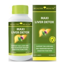 Wealthy Health-Maxi Liver Detox 120 Tablets (EXP: 04/21)