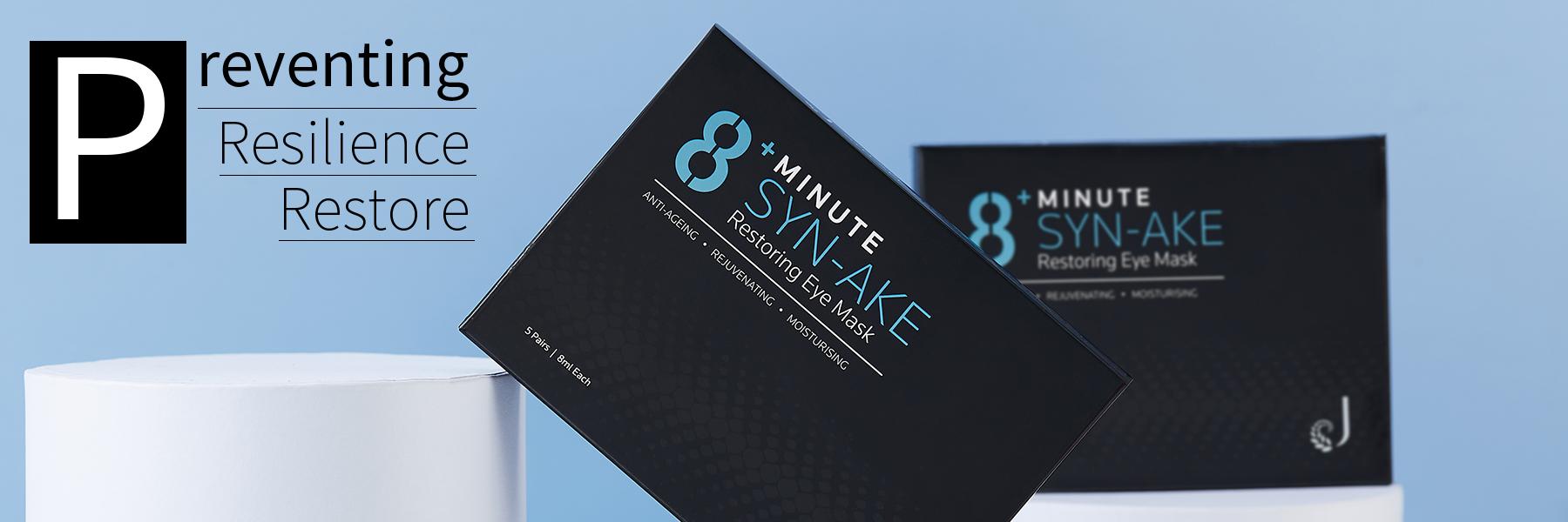 Image result for Jema Rose-8+ Minute Syn-Ake Restoring Eye Mask 8ml 5 Pieces eye massage